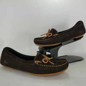 NWoB Lacoste Brown Suede Loafer Moccasins